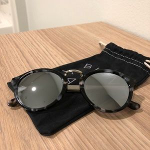 Madewell Indio Sunglasses in Demi Flash in Black